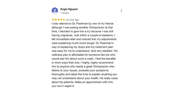 Chiropractic Richardson TX Angie Nguyen Testimonial