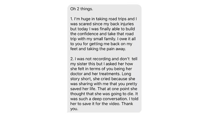 Chiropractic Richardson TX Juan Karina Testimonial